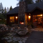 Nice open fire to enjoy after dinner