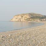 Shingle beach and Little Orme