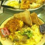 Swiss & Mushroom omelet & hash brown casserole!