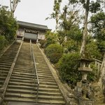 the stairs up to the shrine