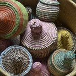 Closed sewing baskets