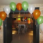Pool Room with balloon decorations