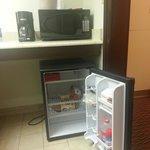 Fridge, Microwave, Coffee maker