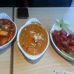 Paneer chilli gravy, paneer tikka masala, paneer manchurian (phone not included!)