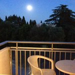 Full moon from the terrace overlooking the pool & gardens