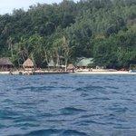 main beach from boat
