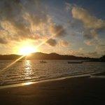 sunset from main beach