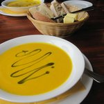 Carrot soup with mushroom oil