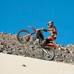 KTM bike racing small dune near hurghada red sea egypt