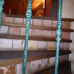 Stairway to guest rooms