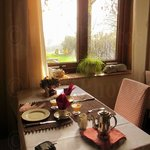 Breakfast with view of contryside