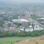 View of Pollock Halls from Arthur's Seat