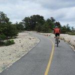 Biking through the sand dunes