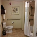 bathroom wide for handicapped clean as can be!