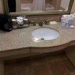 bathroom sink area
