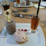 A trio of dessert