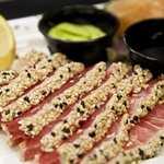The Sesame Seared Sashimi Tuna. It may be a tongue twister, but it's also an appetizer!