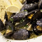 Sauteed Mussels in white wine, basil and garlic. Most folks say ours are the best they've had!