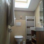 The bathroom with sun roof