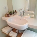 Badezimmer mit Bioprodukten