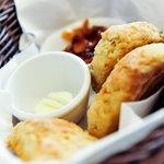 Freshly baked homemade scones