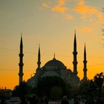 Sunset over Blue Mosque