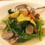Spinach with mushroom