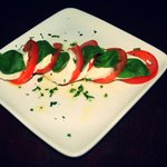 The tomato, mozzarella and basil starter!