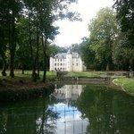 l'étang, l'ile et le Chateau