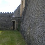 Over the dry moat
