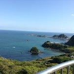 魚見塚展望台からみた鴨川松島の風景