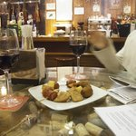 tasty nibbles with drinks to start with
