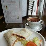 My All Day Breakfast Wrap and Italiano coffee. Excellent!