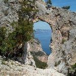 Il golfo di Orosei dall'arco Lipiru