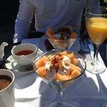 Delicious breakfast poolside!
