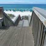Down the steps to the beach