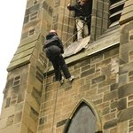 You can abseil out of our spire !