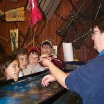 Tour Guides show guests rare colored lobsters & different species.