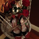 Spiegel im Evita Zimmer mit neuen Tango Schuhen