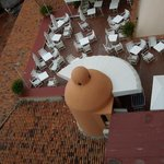 A view of the roof top dinining area from our room
