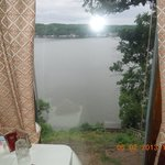 View of Osage Lake from table in dining room.