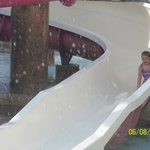 Even 4 yr olds are not afraid of the water slides