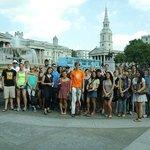 Our Free Tour group at Trafalgar Square