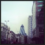View of the Gherkin whilst on the East End Tour