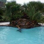 Pool with mini waterfall