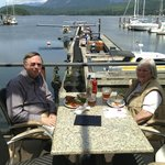 Lunch at the Lighthouse Pub on Porpoise Bay