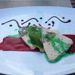 Mint Parfait with Strawberry Sauce