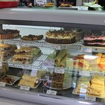Cakes, pastries and sandwiches