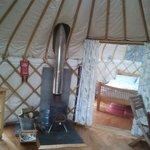 the logburning stove