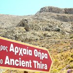 we climed this mountain to see ancient Theira